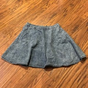 Faux Denim Skirt